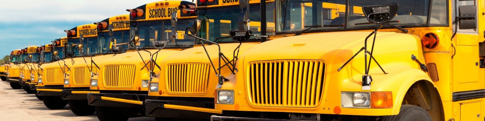 School buses parked
